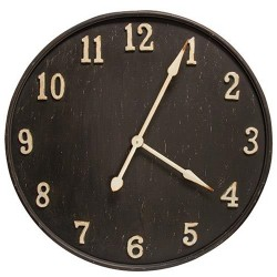 Rustic Black Metal Clock