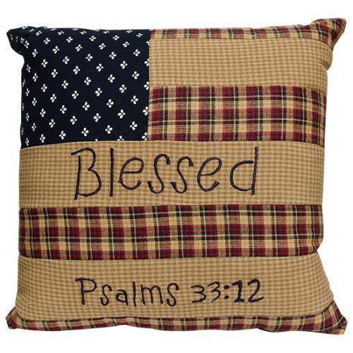 Blessed Patriotic Pillow