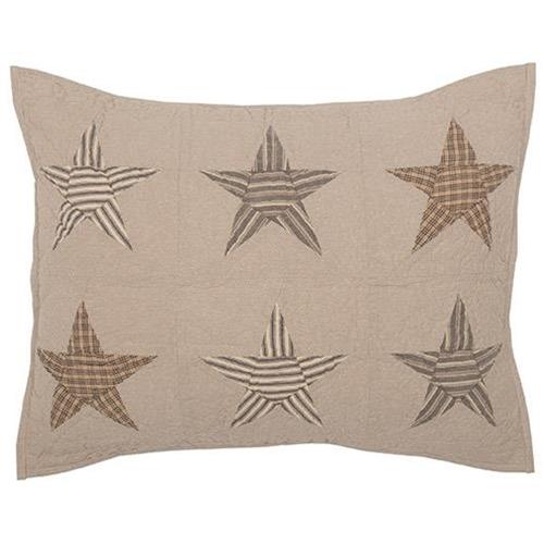 Sawyer Mill Star Charcoal Standard Sham