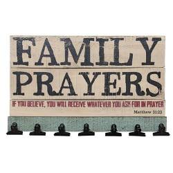 Family Prayers Board