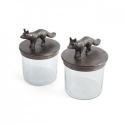 Pair of Fox Jars